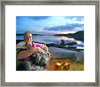 Camping With Grandpa Framed Print