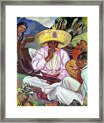 Camping Zapatistas, 1922 Framed Print by Granger