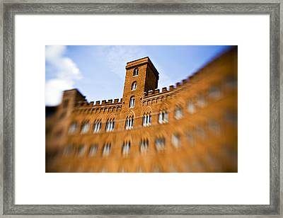 Campo Of Siena Tuscany Italy Framed Print by Marilyn Hunt