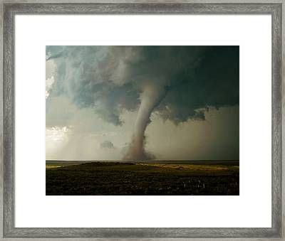 Campo Tornado Framed Print by Ed Sweeney