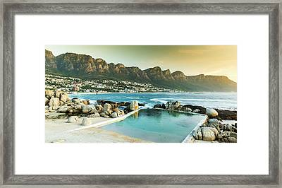 Camps Bay At Dusk Framed Print by Tim Hester