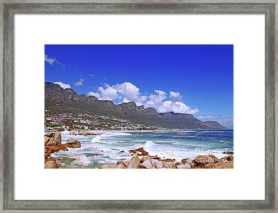 Camps Bay, Cape Town, South Africa Framed Print by Wibke W