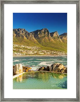 Camps Bay Ocean Pool Framed Print by Tim Hester