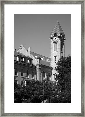 Campus Clock Tower Framed Print