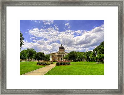 Campus Life At Southern Miss Framed Print by JC Findley