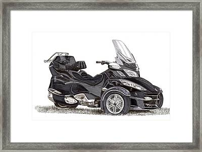 Framed Print featuring the painting Can-am Spyder Trike by Jack Pumphrey