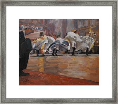 Can Can In The Moulin Rouge Paris Framed Print