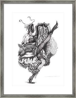 Can Can Framed Print by Yvonne Ayoub