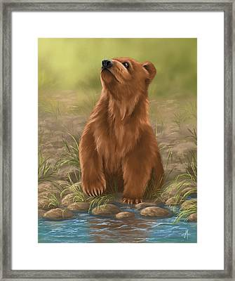 Framed Print featuring the painting Can I Dive? by Veronica Minozzi