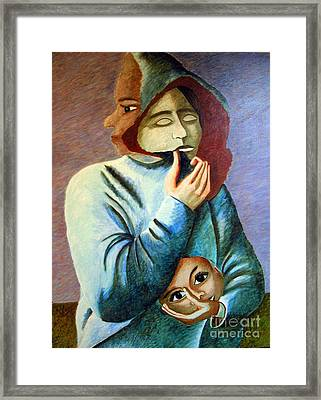 Can I Hide My Identity  Can I Play A Role Framed Print by Tanni Koens