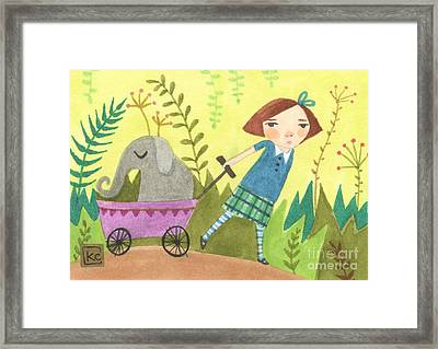 Can I Keep Him? Framed Print by Kate Cosgrove