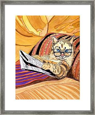 Can I Not Have A Sunday Framed Print by Connie Valasco