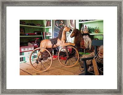 Can I Ride The Horse Mom Framed Print
