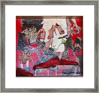 Can New Shoes Make You Happy Framed Print