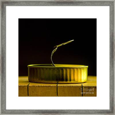 Can Of Sardines Framed Print