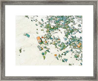 Can On Beach Framed Print by Jan Hattingh