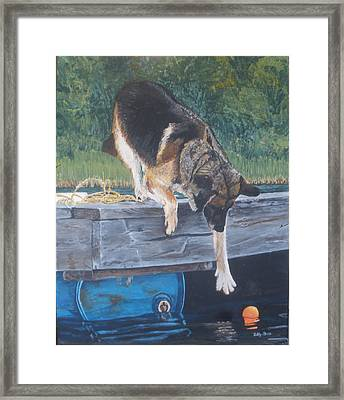 Framed Print featuring the painting Can She... by Betty-Anne McDonald