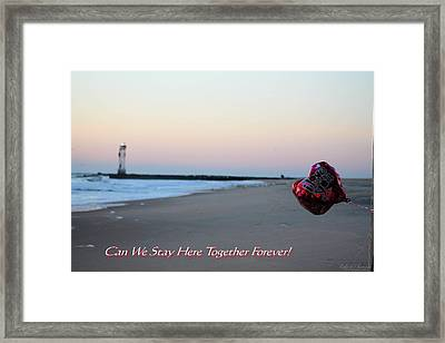 Can We Stay Here... Framed Print