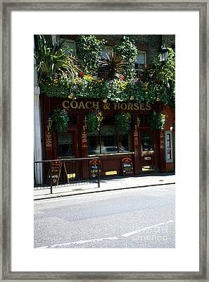 Can You Say Pub Time Framed Print by Robert  Torkomian