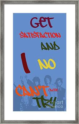 Can You Sort The Lyrics? Rolling Lyrics. Game For Music Fans Framed Print