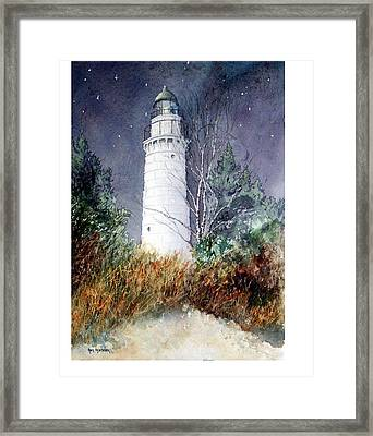Cana Island Light House Framed Print