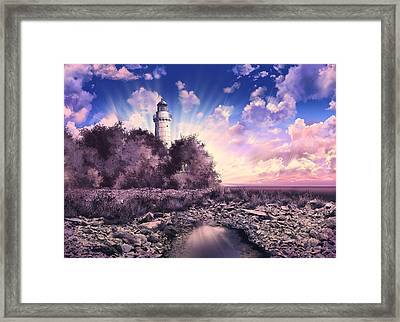 Cana Island Lighthouse Framed Print