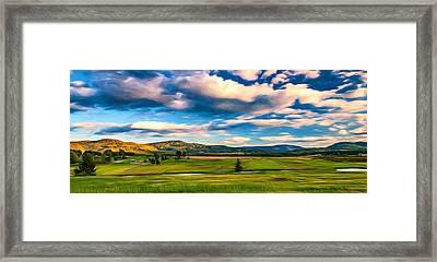 Canaan Valley Golf And Ski Resort - Paint Framed Print by Steve Harrington