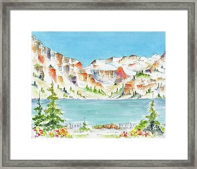 Canada 150 Alberta Framed Print