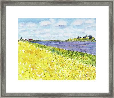 Canada 150 Manitoba Framed Print