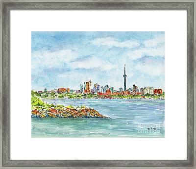 Canada 150 Ontario Framed Print