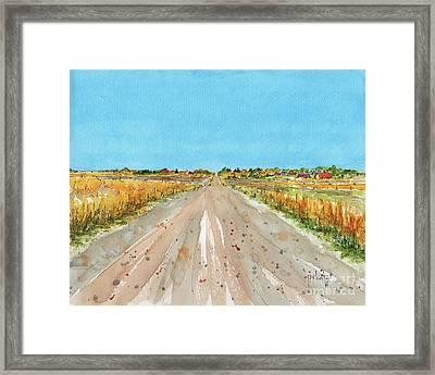 Canada 150 Saskatchewan Framed Print