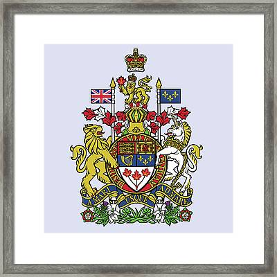 Framed Print featuring the drawing Canada Coat Of Arms by Movie Poster Prints
