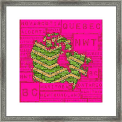 Canada Pink Framed Print by Brandi Fitzgerald