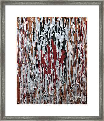 Framed Print featuring the painting Canada Cries by Cathy Beharriell