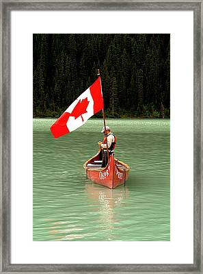 Framed Print featuring the photograph Canada Day... by Al Fritz