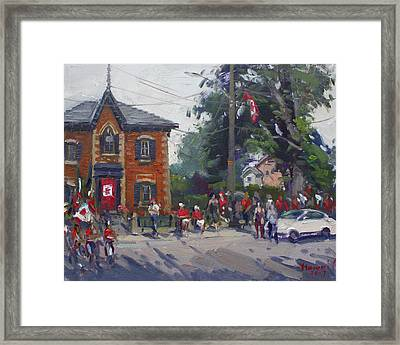Canada Day Parade At Glen Williams  On Framed Print