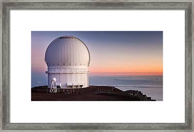 Canada-france-hawaii Telescope Framed Print by Thorsten Scheuermann