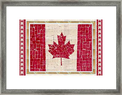 Canada Golory Decorations  Proud Canadian Flag  Artistic Version Sizes Colors And Image   Framed Print by Navin Joshi