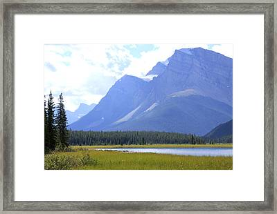 Canadian Mountains Framed Print by Catherine Alfidi