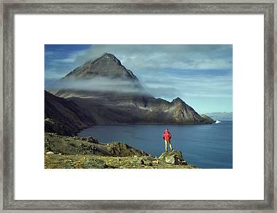 Canada, Nunavut, Baffin Island, Mount Herodier, Eclipse Sound Framed Print