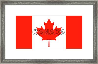 Canada On A Canadian Flag Framed Print by Roy Pedersen