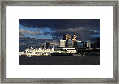 Canada Place Vancouver City Framed Print by Pierre Leclerc Photography