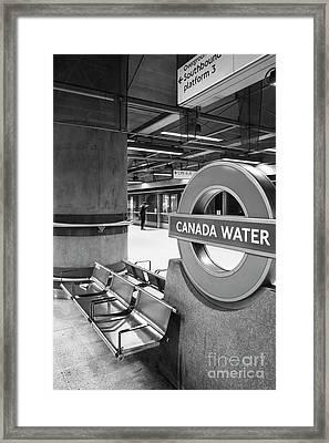 Canada Water Framed Print