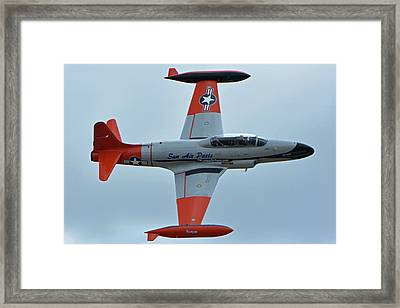 Canadair Ct-133 Silver Star Nx377jp Pacemaker Chino California April 30 2016 Framed Print by Brian Lockett