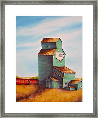 Canada's Grain Train Framed Print