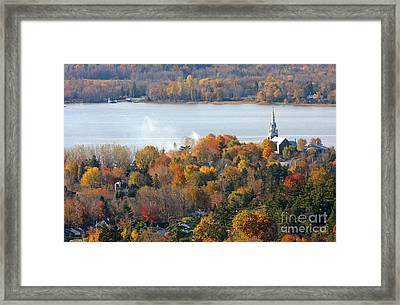 Canadian Autumn Framed Print by Mircea Costina Photography