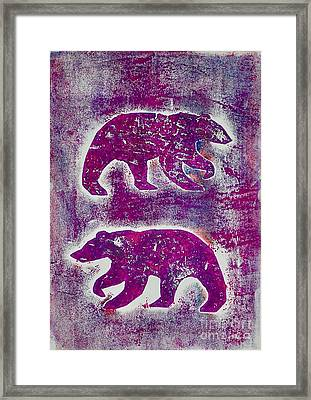 Canadian Bears Pink  Framed Print
