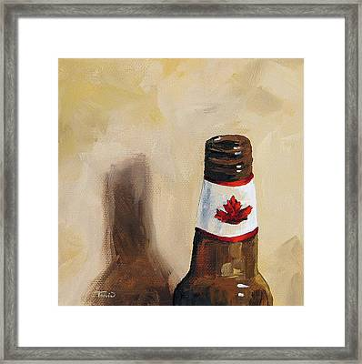 Canadian Beer Framed Print by Torrie Smiley