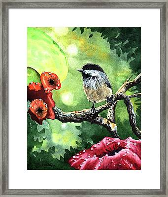 Canadian Chickadee Framed Print by Timithy L Gordon