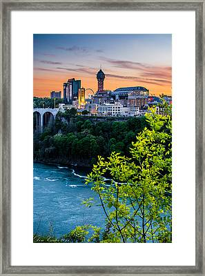 Canadian Falls Skyline Framed Print